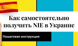 NIE Испания украинцам