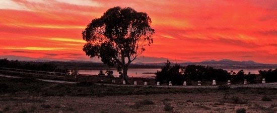 Закат на озере Торревьеха